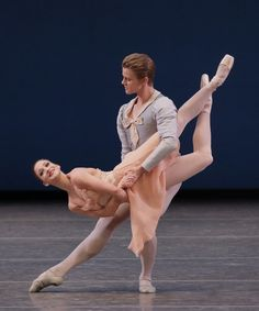 Ashley Bouder and Chase Finlay in Tchaikovsky Pas de Deux.