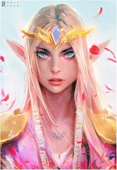 Princess Zelda, Ross Tran on ArtStation at https://www.artstation.com/artwork/mK5bd?utm_campaign=notify&utm_medium=email&utm_source=notifications_mailer