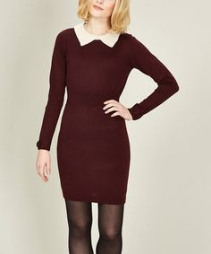 Take a look at this Burgundy Ellie Knit Dress by Sugarhill Boutique on #zulily today!