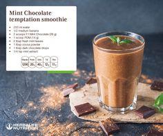 Herbalife 24, Herbalife Nutrition, Herbalife Products, Chocolate Herbalife Shakes, Chocolate Shake, Mint Chocolate, Mint Extract, Banana, Fresh Mint Leaves
