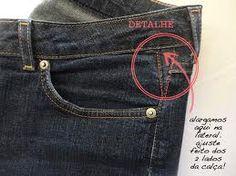 Remodelando e alargando as calças jeans! Sewing Clothes, Diy Clothes, Sewing Alterations, Couture, Refashion, Stitch, Fabric, Pants, Patch Aplique