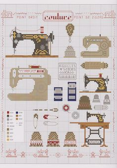 Sewing cross stitch