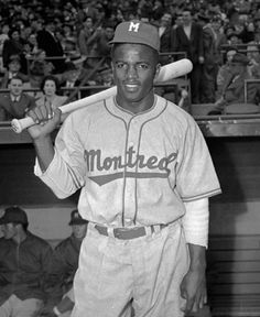 This April file photo shows Montreal Royals Jackie Robinson. The quaint Montreal duplex that served as sanctuary to the Robinsons during the Baseball Live, Baseball Art, Baseball Games, Baseball Players, Expos Baseball, Royals Baseball, Baseball Uniforms, Baseball Socks, Baseball Equipment