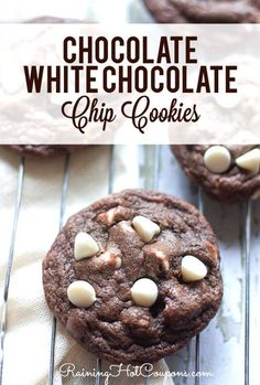 Chocolate White Chocolate Chip Cookies Recipe