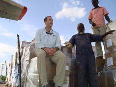 Stephen Skakel, Bridge Foundation (left) Nyala Airport, South Darfur 2009