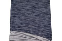 Heather Dark Blue French Terry Knit Fabric Extra by felinusfabrics