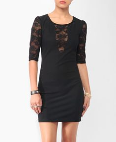 Plunging Lace Trim Dress from Forever21.com