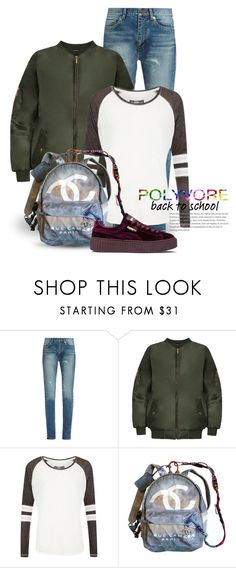 """""""Jan 1st (tfp) 2801"""" by boxthoughts ❤ liked on Polyvore featuring Yves Saint Laurent, WearAll, Superdry, Chanel, Puma and tfp"""