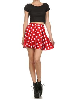 """Women's """"Minnie Mouse"""" Skater Skirt by Poprageous (Red) #inkedshop #minniemouse…"""