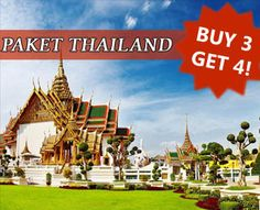 Thailand Package Land Arrangement Only (Bangkok - Pattaya - Phuket - Chiangmai) Buy 3 Get 4! For booking and detail information, visit us: www.ezytravel.co.id or call: 021-2316306.