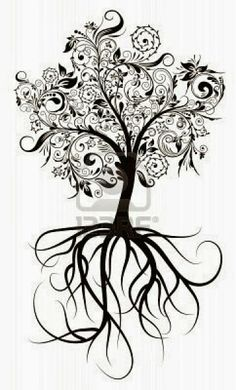 On this post you can see Heart Tree Tattoo Design - Tattoos Ideas in an interesting style. Look at the photos and sketches of the Heart Tree Tattoo Design. Tattoo Life, I Tattoo, Tree Of Life Tattoos, Tree Roots Tattoo, Family Tree Tattoos, Ahimsa Tattoo, Tree Thigh Tattoo, Tree Tattoo Side, Celtic Tree Tattoos