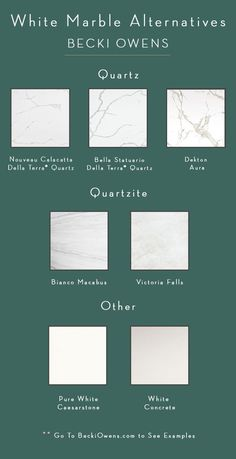 If marble is too high maintenance for you, today I am sharing marble alternatives that add the same bright white polish to your updated kitchen.