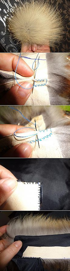 Основной шов скорняка для шитья меха (мастер-класс)