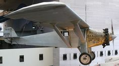 "A photo of Charles Lindbergh's ""Spirit of St. Louis"" airplane on display at the National Air and Space Museum. Credit: Ad Meskens; Wikipedia. Read more on the GenealogyBank blog: ""21 May 1927: Charles Lindbergh's Daring Solo Plane Flight."" http://blog.genealogybank.com/21-may-1927-charles-lindberghs-daring-solo-plane-flight.html"