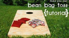 CORNHOLE BEANBAG TOSS GAME w Bags Game Boards Tree White Snow Set 872