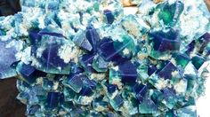 underground: The Weardale Giant, coated with fluorite crystals, was extracted last month from a County Durham mine