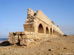 Aqueduct in Caesarea, Israel. www.victortravelblog.com/2012/10/22/fabulous-caesarea-israel/