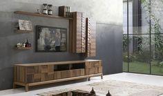 Vogue houten tv-eenheid – tw ünitesi – Welcome Tv Unit Tv Unit Design, Tv Unit Interior Design, Tv Unit Furniture Design, Modern Home Interior Design, Tv Wall Design, Living Furniture, Modern Tv Cabinet, Tv Cabinet Design, Tv Unit Decor
