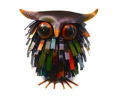 Spiky Owl Sculpture