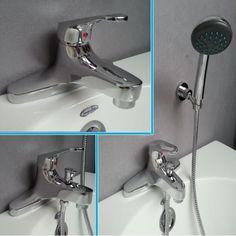 Designer bath taps Chrome Bathroom Bath Filler Taps Bath/Shower Mixer Taps
