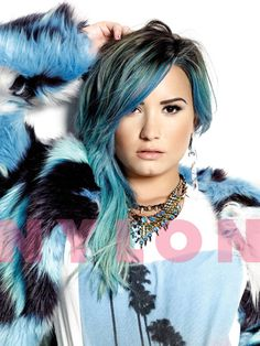 Demi Lovato's Blue Hair Gets Its First Magazine Feature For 'NYLON'