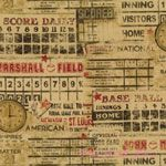 Bristol Bay Studio Who's On First Baseball Scoreboards Tan [BT-2387-77] - $10.45 : Pink Chalk Fabrics is your online source for modern quilting cottons and sewing patterns., Cloth, Pattern + Tool for Modern Sewists