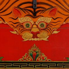 Pair of Antique Chinese Painted Tiger Trunks, Tibetan Border Chinese Tiger, Japanese Tiger, Chinese Art, Japanese Art, Painting Tattoo, Tiger Painting, Tiger Rug, Tiger Illustration, Tibetan Rugs