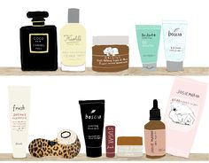 """Real Simple art assistant Tova Diamond's fave beauty products and tips featured in """"The Vanity Project"""" on  illustrator Alessandra Olanow's blog.   http://behindthelinesblog.com/"""