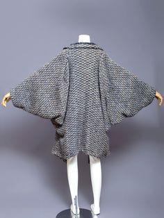 Issey Miyake knit kimono coat, 1980s.