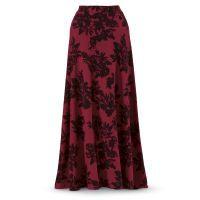 Vintage Burgundy Crêpe Skirt