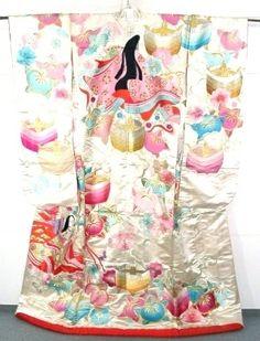 Vintage Uchikake with a heian design