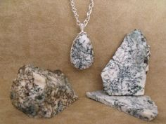 Tree Moss Agate in the rough, in slabs and in a cut and polished accent stone  /  Gallery - IrenaDesigns.com - Fine Quality Artisan Jewelry