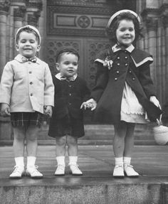 Easter 1950's - Children's fashion. I remember this look. Little Easter children on parade!
