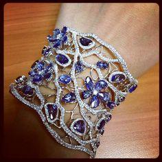 Sapphire bangles #dianamjewels #somethingblue #designerjewelry #neimanmarcus