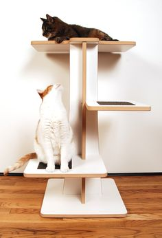 {modern cat tree} this would actually look good in my living room. + customizable colours! cat happy!