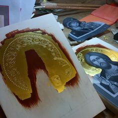 Byzantine Icons, Ornaments Design, Border Design, Metal Crafts, Christian Art, Metallic Paint, Orthodox Christianity, Painting Techniques, Gold Leaf