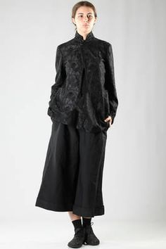 man jacket in embroidered lace of washed cotton and polyester - COMME DES GARÇONS