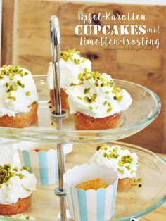 apple and carrot cupcakes with lime-frosting - babys first birthday | Apfel-Karotten-Cupcakes mit Limetten-Frosting
