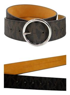 421ec9a9a5e Michael Kors Womens Belt, Signature Logo Wide Belt - Brown (Medium) at  Amazon Women's Clothing store:
