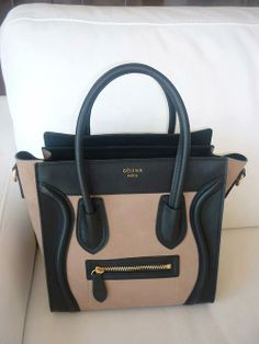 Black and brown Celine bag. I want them ALL. I'll start with THIS ONE!
