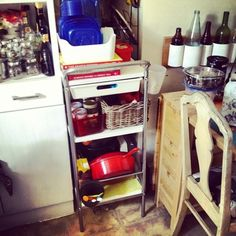 IKEA Bygel trolley and containers - perfect small space solution for kitchen or around the home!