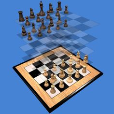 Play Three-dimensional chess Raumschach in 3D or 2D http://www.jocly.com/#/play/raumschach
