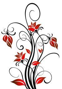 vector ornament in flower style - Hledat Googlem