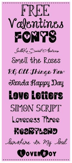 My Favorite FREE Fonts for Valentine's Day