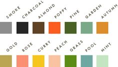 Rifle Paper Co. stationary color choices