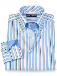 what a handsome spring shirt, from Paul Fredrick's Spring 2015 collection
