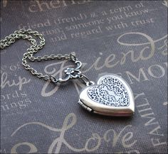 Silver Heart Scent Locket Necklace- Enchanted  Love - Jewelry by TheEnchantedLocket - SWEET Birthday Daughter Wedding Christmas Gift on Etsy, $25.00