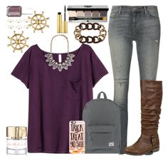 """""""Untitled #132"""" by fashion-n-o-w ❤ liked on Polyvore featuring H&M, J Brand, Bobbi Brown Cosmetics, Forever 21, Herschel Supply Co., Sperry Top-Sider, Smith & Cult, AERIN, Bamboo and Casetify"""