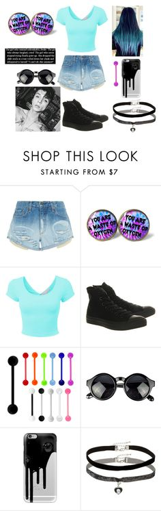 """""""You Are Not."""" by dream-forever-878 ❤ liked on Polyvore featuring rag & bone, LE3NO, Converse, Casetify and Miss Selfridge"""