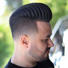 Timeless 60 Haircuts For Men Trends) Cool Haircuts, Hairstyles Haircuts, Haircuts For Men, Mens Hairstyles Pompadour, Hairstyle Men, Stubble Beard, Curly Hair Styles, Natural Hair Styles, Awesome Beards